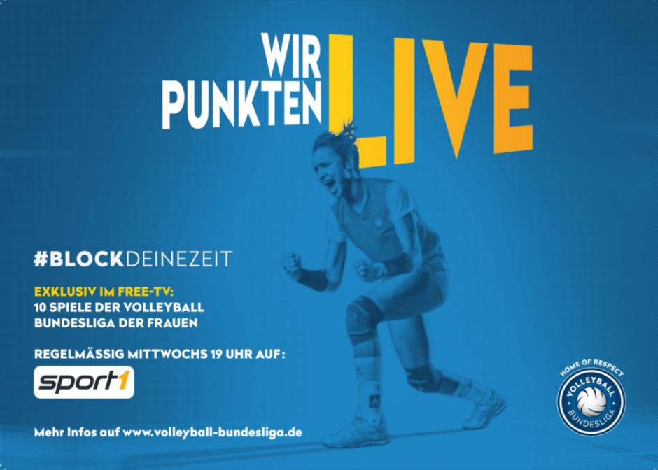 1. Volleyball Bundesliga im Free-TV